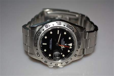 Rolex Explorer II Black Dial Stainless 165550