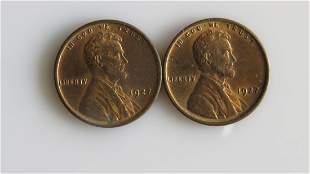 A Pair of Uncirculated 1927 Lincoln Cents