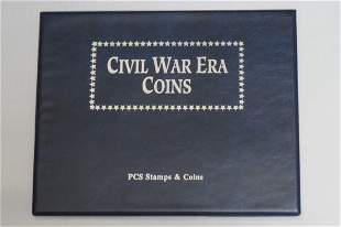 A Civil War Era Coin set with Mint Commemorative Stamps