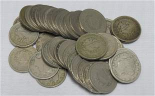 Roll of 40 Average Circulated Liberty Nickels