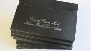 1992-1997 Silver Proof sets Six Sets (6ct.)