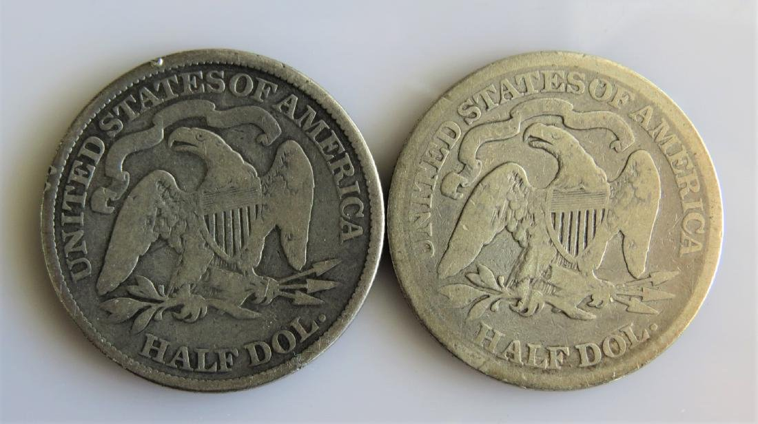 1873 and 1874 W/Arrows Seated Half Dollars Two (2ct.) - 2