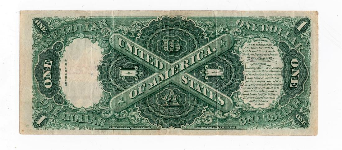 1917 $1 ONE DOLLAR LEGAL TENDER NOTE Choice XF - 2