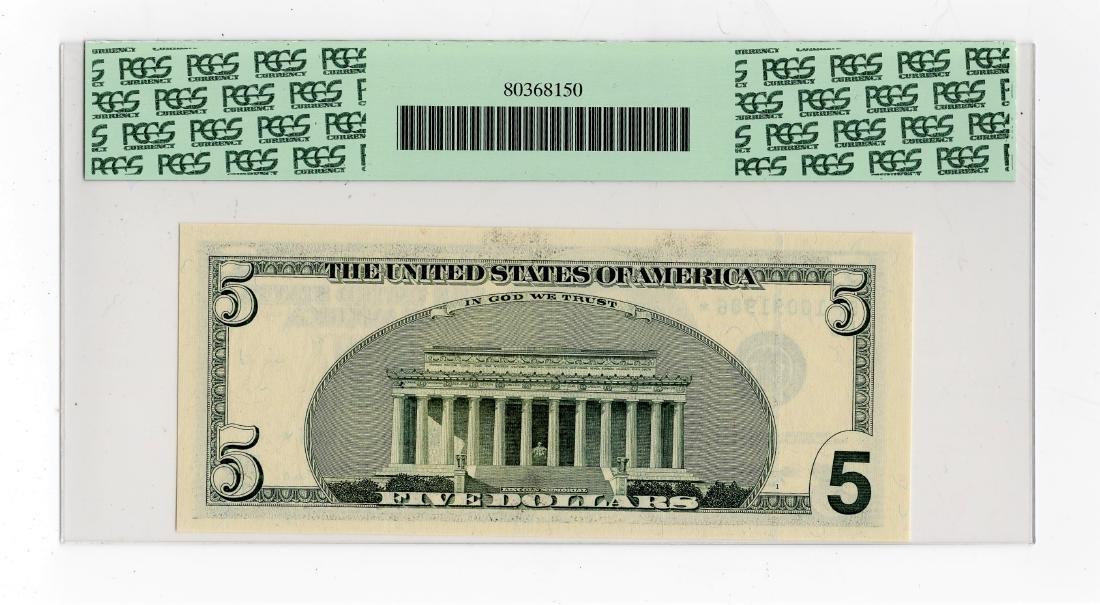 1999 Five Dollar $5.00 FRN Star Note PCGS Gem MS66PPQ - 2