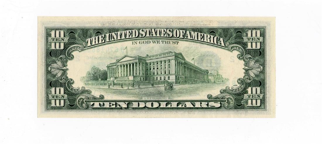 1977-A Ten $10.00 Dollar Error Note -Missing Design - 2