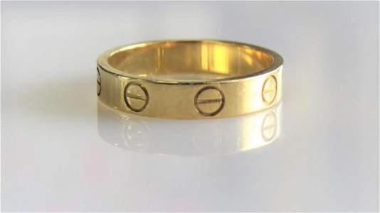 18KT Yellow Gold Cartier Wedding Band
