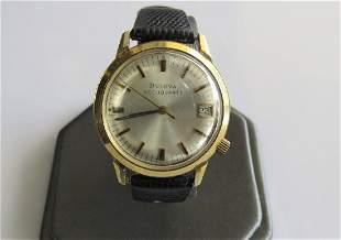 14K Yellow Gold Bulova Accuquartz Vintage Watch