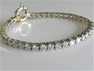 10 CARAT Diamond Tennis Bracelet - BEAUTIFUL WHITE SI