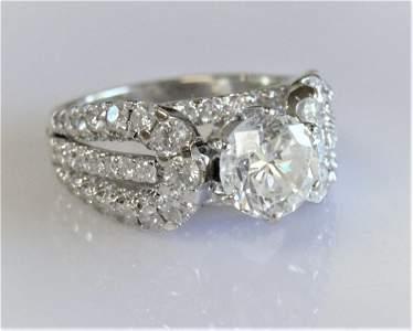 Diamond Engagement Ring -18k White Gold 2.00ct Luxury