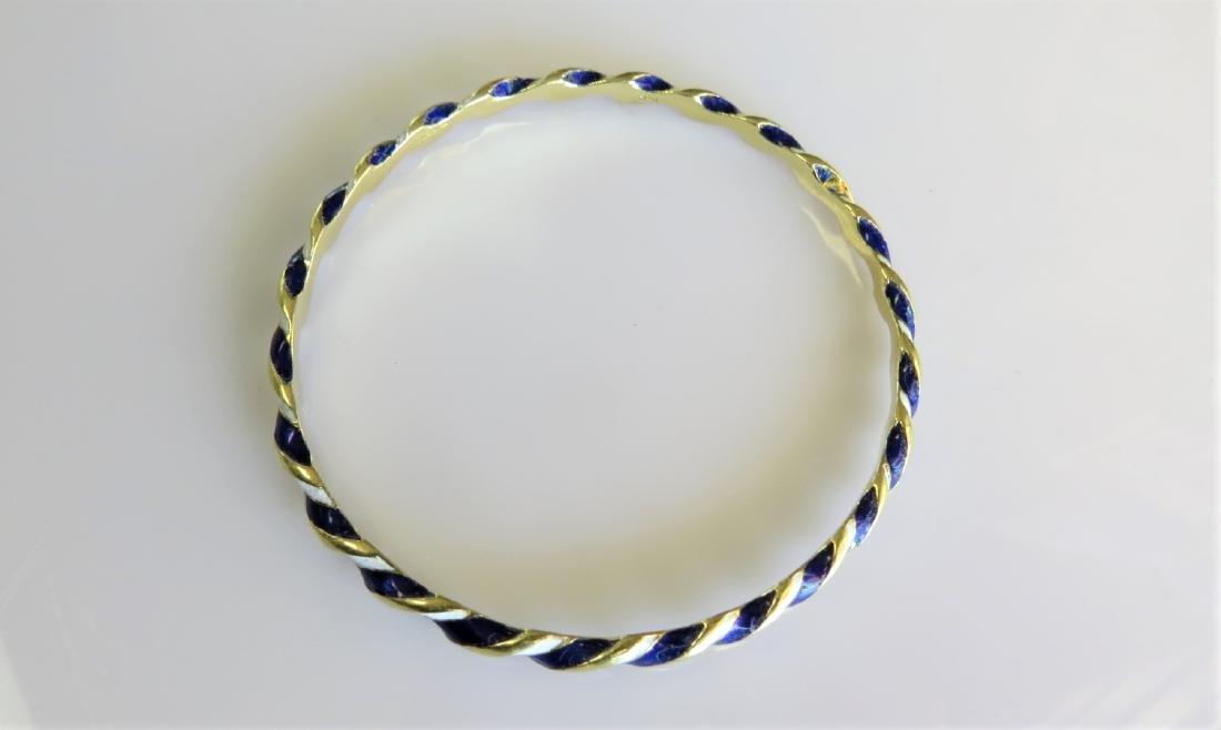 18KT Yellow Gold Antique Bangle Bracelet