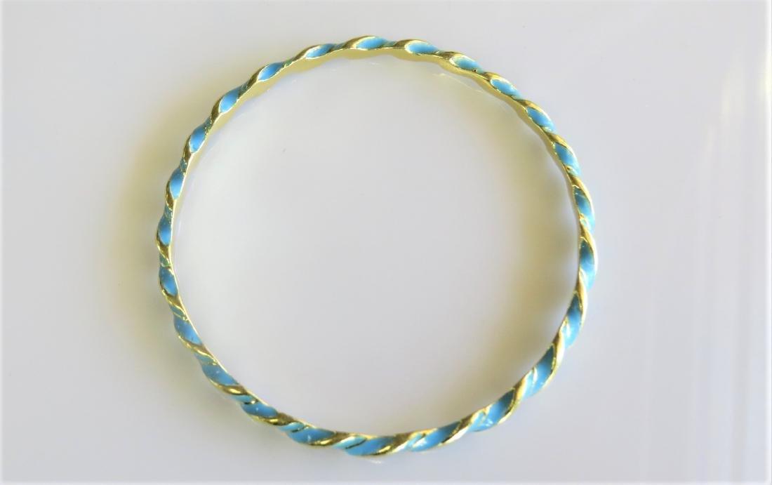 Antique 18K Yellow Gold Bangle Bracelet - 3