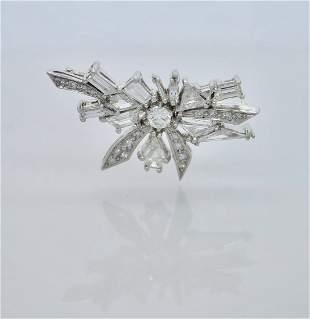Platinum Vintage Diamond Brooch