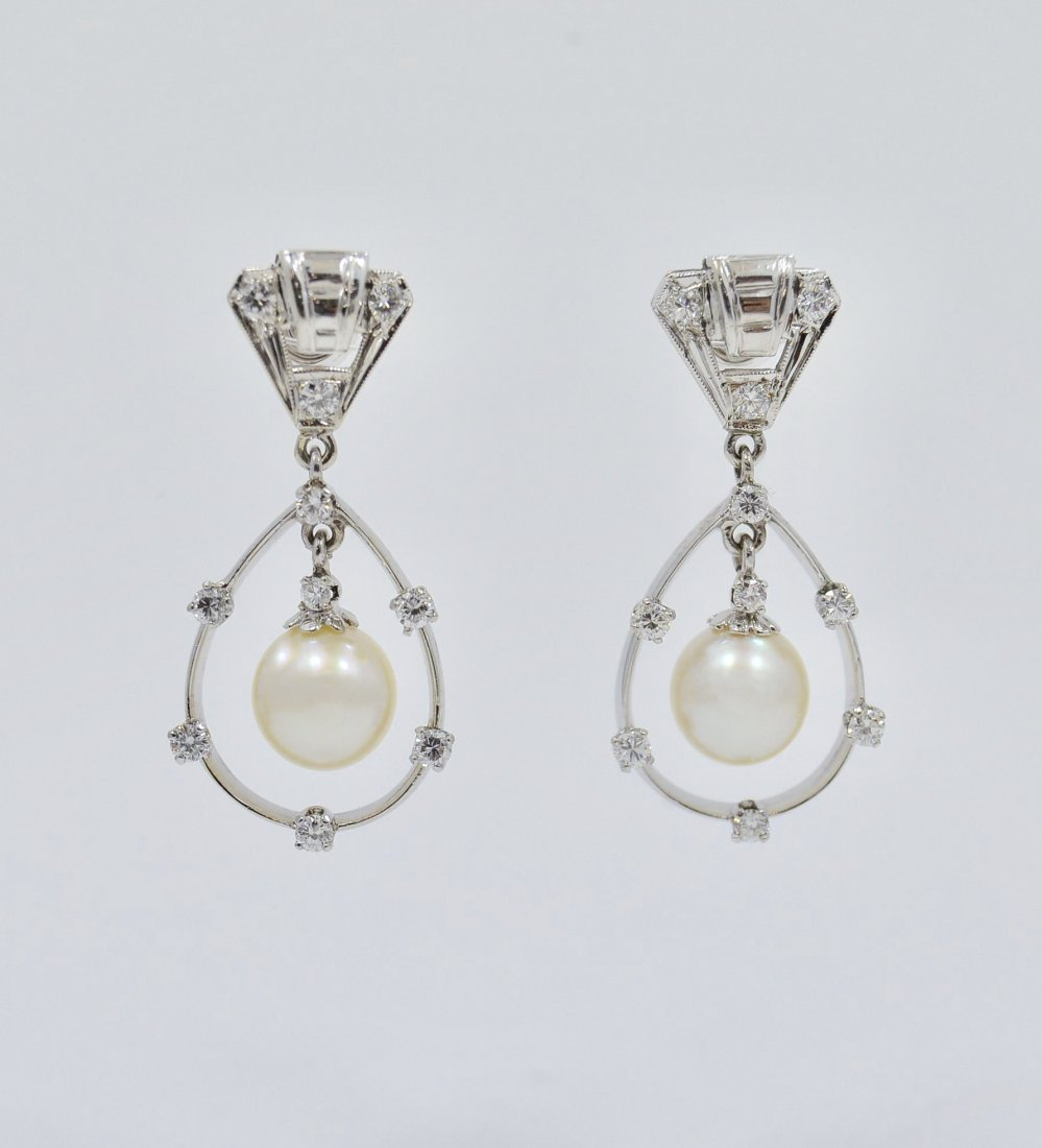 590f20028 Diamond and Pearl Chandelier Earrings Vintage - May 08, 2019 | Confiscated  Assets Auctioneers AU4671 AB3694 in FL