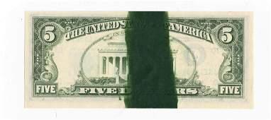 1981 FRN $5.00 Note-Huge Ink Smear Rev. Gem Unc.