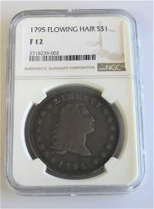 1795 Flowing Hair Half Dollar NGC Fine Details