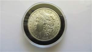 1885 O Choice Unc Original Toned Morgan Dollar