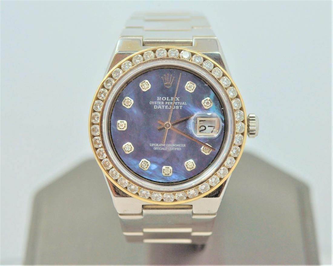 Rolex Mother of Pearl Dial Diamond Bezel