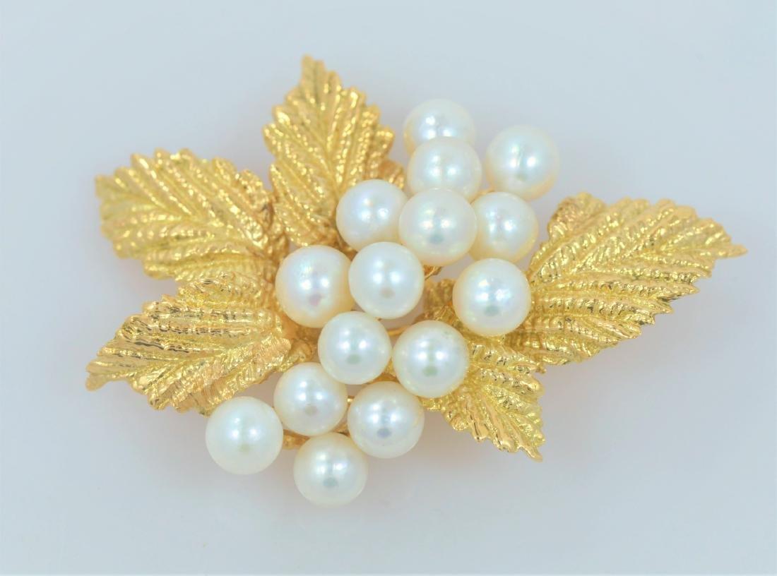 Tiffany & Co Gold Leaf Brooch