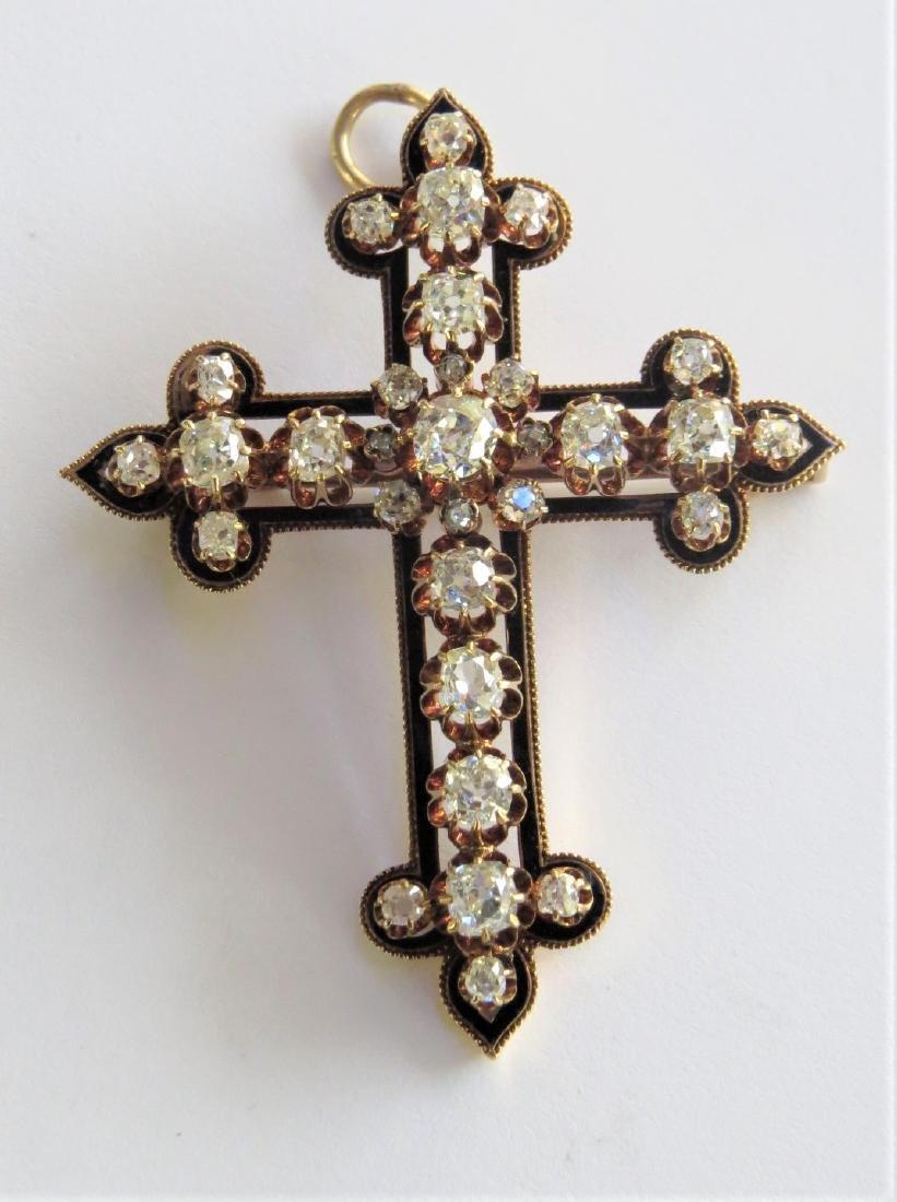Important Victorian 18k and Diamond Cross