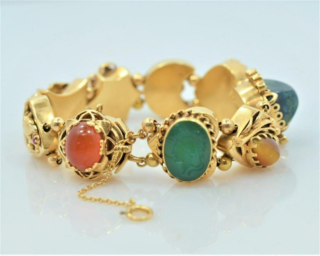 Gold Vintage 14kt Victorian Slide Bracelet
