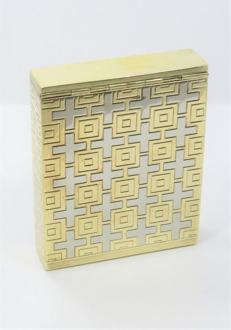 Hand Made Signed Dunhill  14kt Gold Cigarette Case