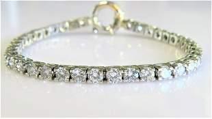 10.00 CARAT Natural Diamond Tennis Bracelet