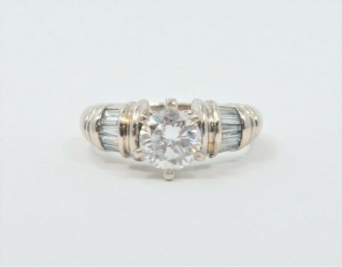 Platinum Diamond Ring - Approximately 1.10 Carats