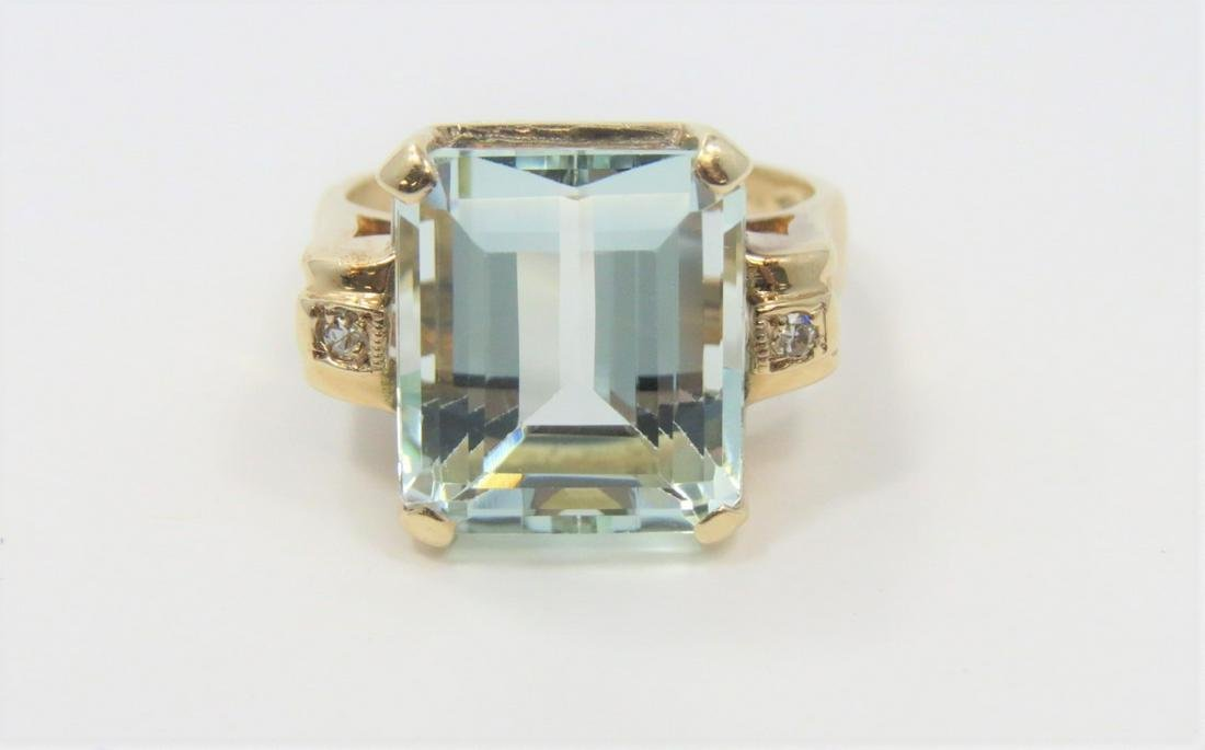 Aquamarine Ring - Large 7 Carat
