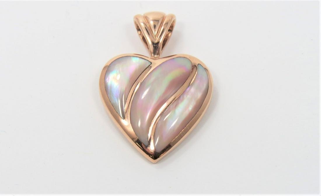 14kt Kabana Rose Gold/ Mother of Pearl Pendant