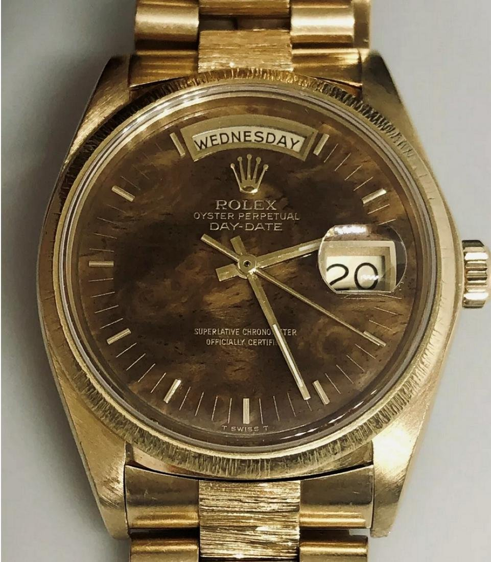 Rolex Date Watch Model 18078 - BURL WOOD DIAL-