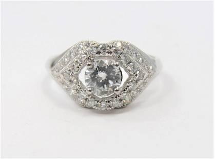 Certified Platinum Diamond Ring