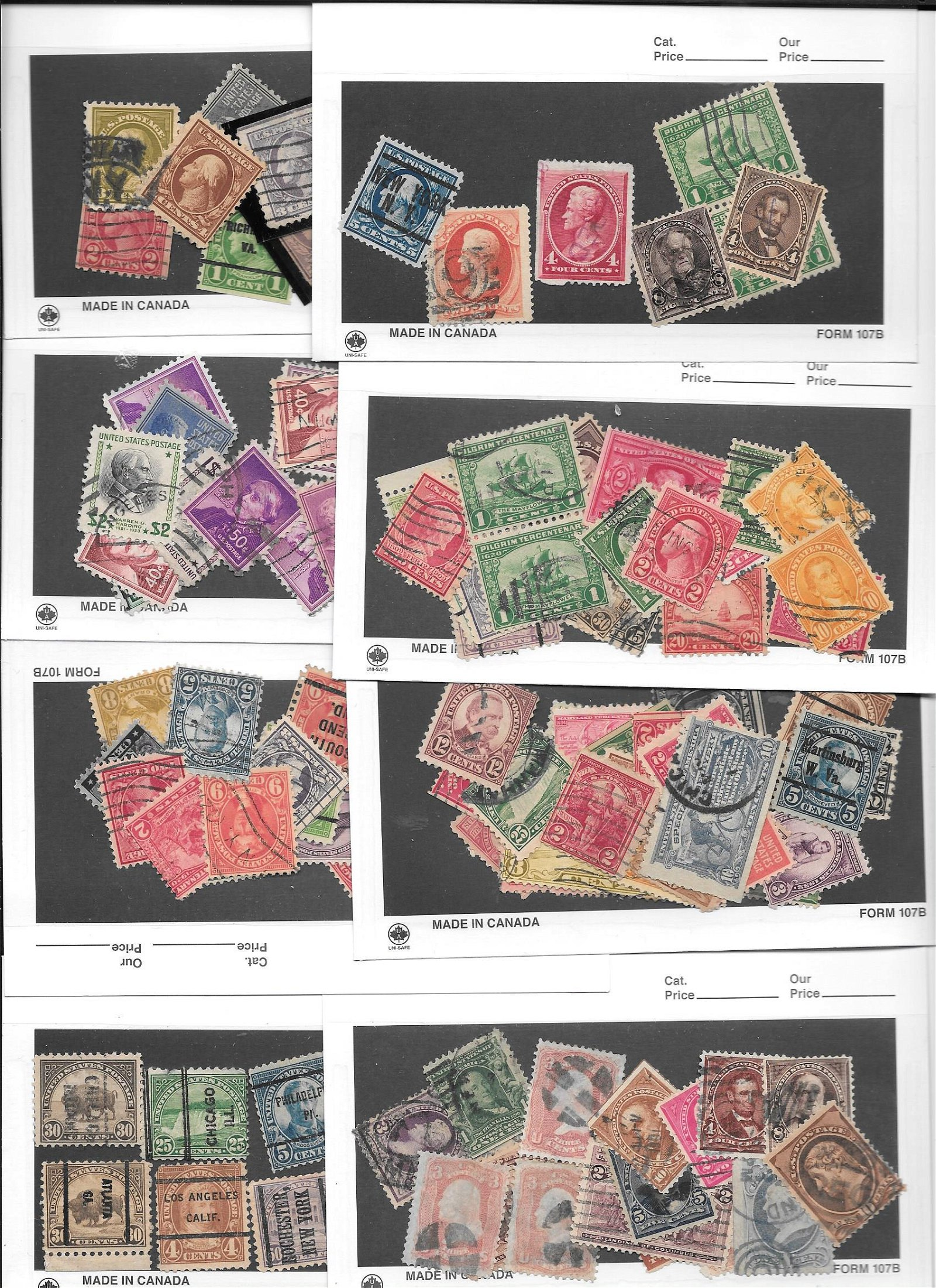One hundred (100 ct.) Early US Stamps