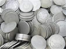 100 Average Circulated Liberty (V) Nickels