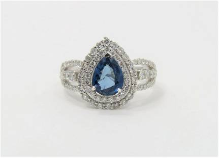 Certified and Appraised RARE Sapphire Diamond Ring