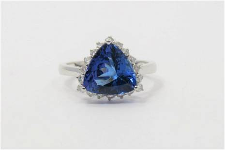 Certified and Appraised Tanzanite Diamond Ring