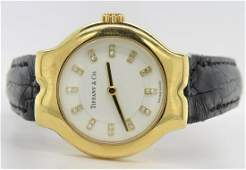 Vintage 18K Yellow Gold Tiffany  Co Watch