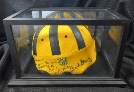 NFL Autographed Green Bay Packers Vintage Helmet