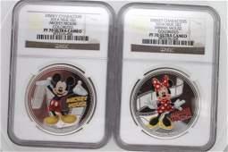 2014 Niue $2 Disney Mickey & Minnie Mouse PF70