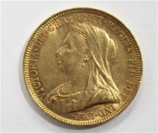 1894 Gold British Sovereign Choice BU