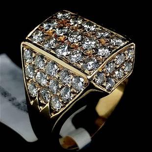 18K Yellow Gold Diamond Encrusted Ring
