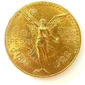 1922 Mexican Gold 50 Peso