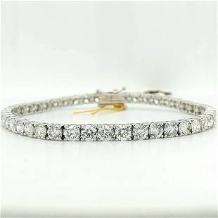 Certified 18K WG Diamond Tennis Bracelet