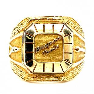 10K Yellow Gold Snap On Tools Ring