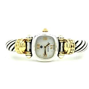 David Yurman Sterling Silver 18K Cable Watch