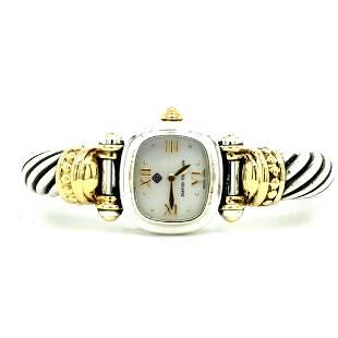 David Yurman Sterling Silver 18K Cable Watch