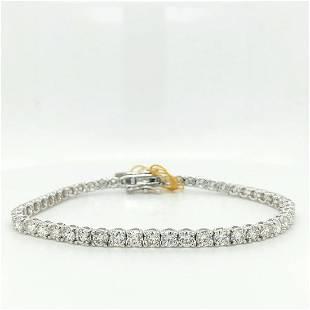 Certified 18K White Gold Diamond Bracelet