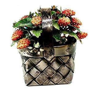 Cartier Sterling Silver Basket of Strawberries