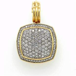 David Yurman 18K YG Diamond Albion Pendant