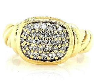 David Yurman 18K YG Noblesse Diamond Ring