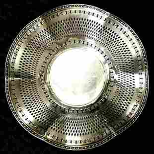 Tiffany & Co Sterling Silver Reticulated Dish